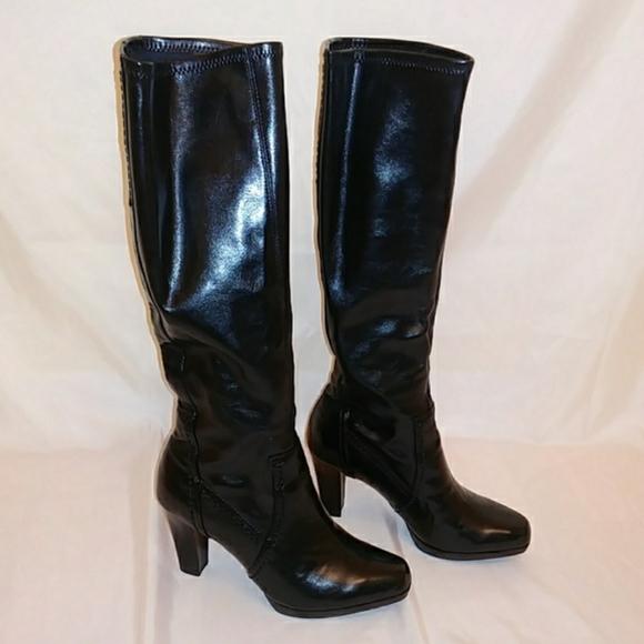 Franco Sarto Black Heel Boots